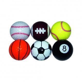Set van 6 ballen Longridge sport fantaisie