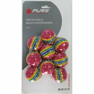 Set van 9 gestreepte trainingsballen Pure2Improve